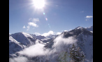 Sun Shining in Winter Over Colorado Rockies