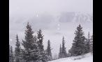 Snowing in Colorado Rockies