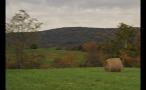 Hay Bale in Rural Pasture