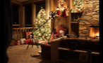Camera Equipment Set Up by Christmas Decorations