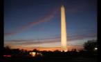 Washington Monument Lit Up After Sunset