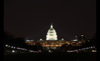 DC Capitol Building Lit Up at Night
