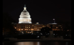 Capitol Building in the District of Columbia Lit Up at Night
