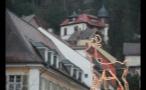 Lit Up Reindeer in German Town
