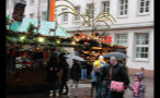 Rainy Day at German Christmas Market