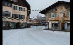 Snowfall in Small German Town