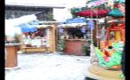 Snowfall on German Marketplace