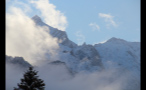 Snowy Mountain Peak in Germany