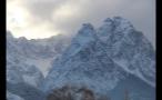 Snow on Mountain Peaks in Germany