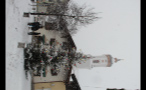 People Standing Next to Christmas Tree in Snowy German Town