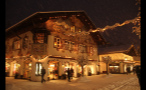 Buildings Lit Up in Small German Town During Blizzard