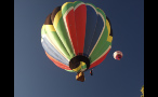 Looking Up at Hot Air Balloons in the Sky