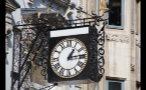 Close Up of Building Clock in London