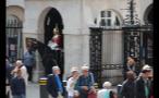 Tourists and Guard on Horseback