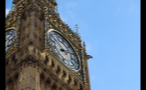 Close Up of Clock on Big Ben Tower