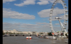 London Eye on Sunny Day in London
