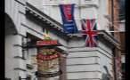 Sign and Flags Outside The Old Bank of England Restaurant