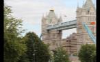View of London Tower Bridge Through Trees