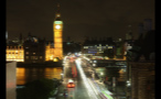 Westminster Bridge and Big Ben at Night Timelapse Photo