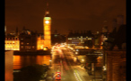 Big Ben and Westminster Bridge at Night in London
