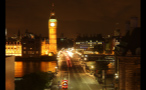 Traffic on Westminster Bridge at Night Time