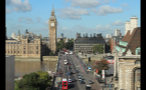 Beautiful Day at Big Ben and Westminster Bridge in London