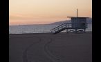 Lifeguard Stand at Los Angeles Beach