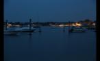 Marthas Vineyard Boat Harbor at Night Time