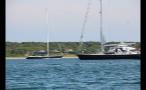 Two Sailboats Near Marthas Vineyard Shore