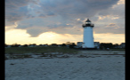 Edgartown Lighthouse and Cloudy Sky in the Evening