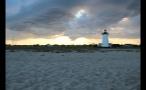 Sun Setting Over Marthas Vineyard in Massachusetts