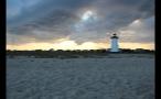 Massachusetts Sun Setting Over Marthas Vineyard