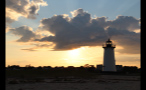 Sunrise Behind Edgartown Lighthouse in Marthas Vineyard