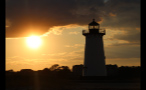 Orange Sunrise Behind Edgartown Lighthouse