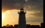 Beautiful Orange Sky Behind Edgartown Lighthouse