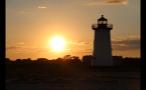 Sky at Sundown Behind Edgartown Lighthouse