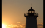 Top of Edgartown Lighthouse During Dusk in Marthas Vineyard