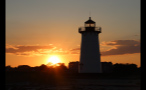 Edgartown Lighthouse Silhouette at Sunset