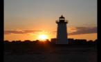 Sun Setting on Marthas Vineyard Horizon