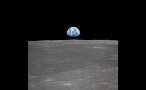 On the Surface of the Moon Looking at Earth