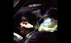 Astronaut Inside Space Shuttle in the Dark