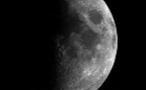 Half of the Moon Shadowed