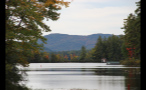 Lake and Mountains in Fall in New England