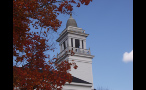 Steeple on White Church in New England