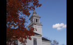 Bell Tower on White Church in New England