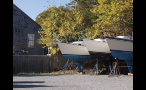 Boats in Storage Area in New England
