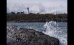 Wavings Hitting Rocks Near Cape Elizabeth Light