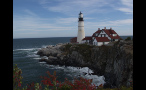 Portland Head Lighthouse on Cliff in Maine