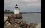 Small White Lighthouse in New England