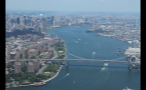 Aerial View of the Williamsburg Bridge Over the East River